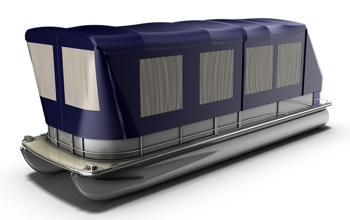 Aluminum Boat Enclosures : Turn your pontoon into a camping tent rocky mountain rv