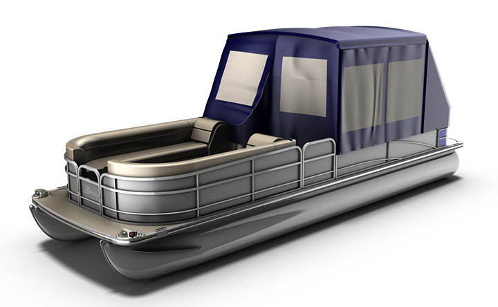 Pontoon Boat Enclosures >> Turn Your Pontoon Into A Camping Tent Rocky Mountain Rv And Marine