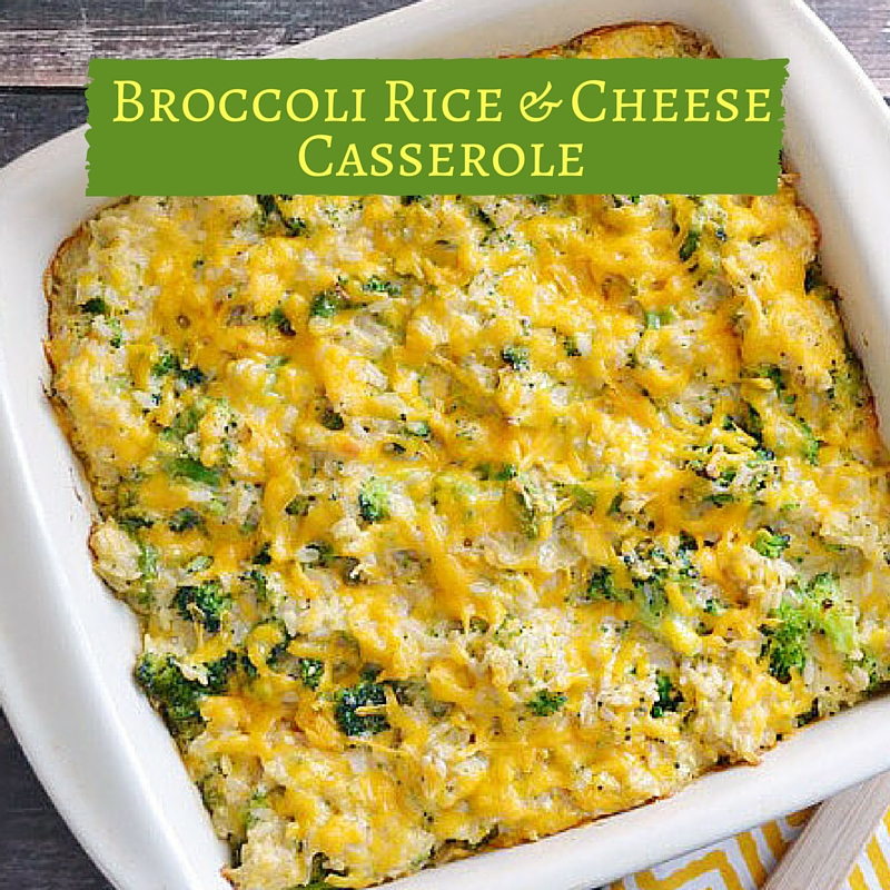 Broccoli Rice Casserole Cheese Whiz Water Chestnuts-9317