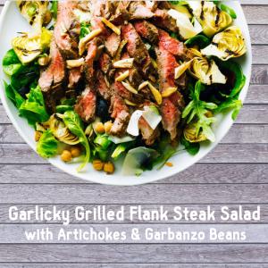 Garlicky Grilled Flank Steak Salad