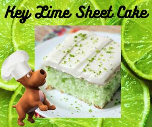 Key Lime Sheet Cake