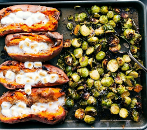Sprouts and Sweet Potatoes