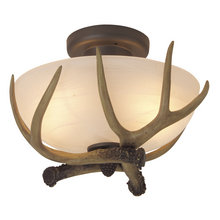 antlers close to ceiling light